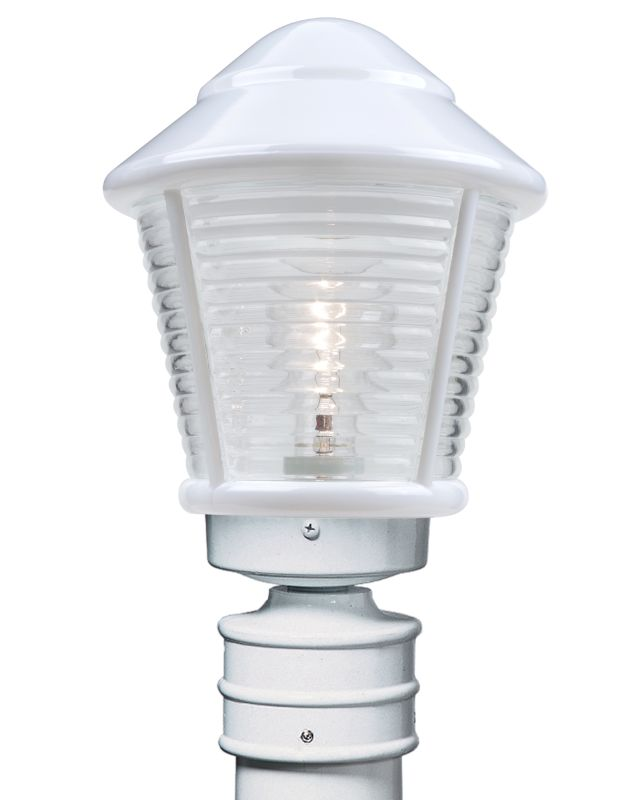 Bell Outdoor Post Lights: Costaluz 310053-POST White 1 Light Incandescent Post Light