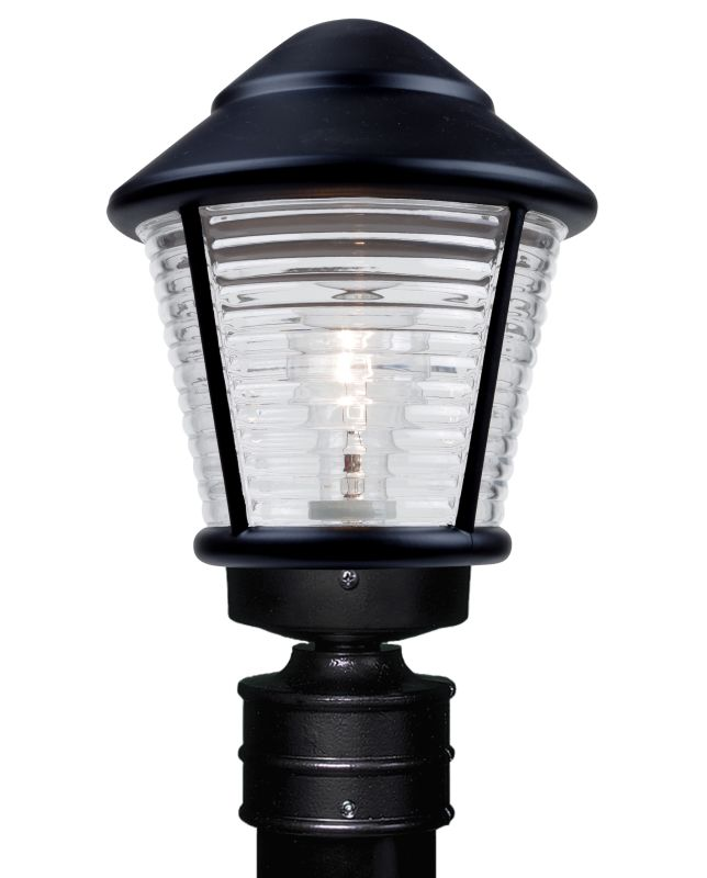 Costaluz 3100-POST 1 Light Incandescent Post Light with Clear Glass