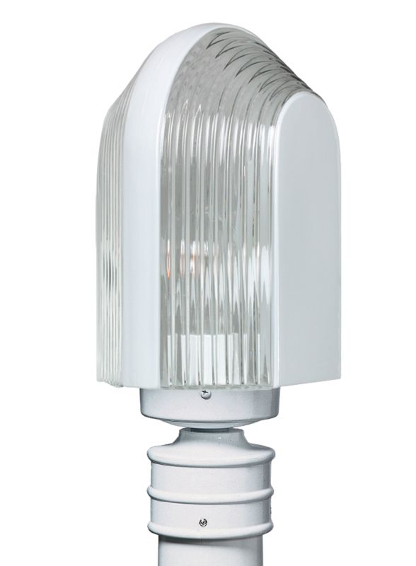 Costaluz 3139-POST 1 Light Incandescent Post Light with Clear Glass
