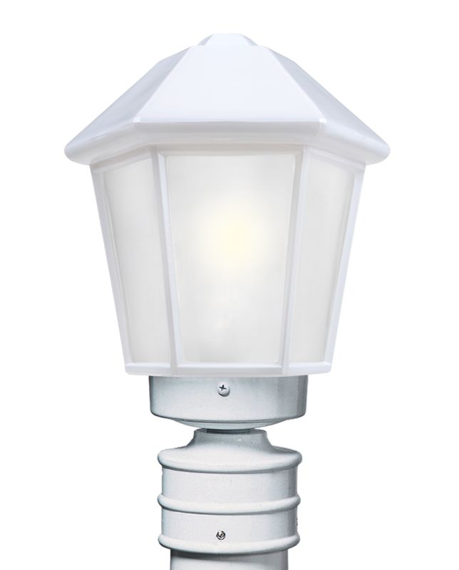 Costaluz 3272-POST-FR 1 Light Incandescent Post Light with Frosted