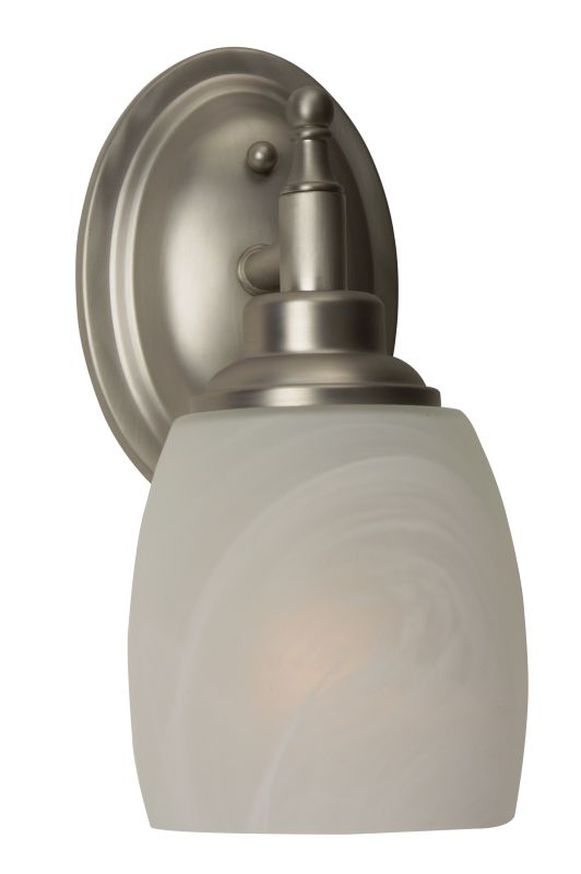 "Craftmade 10205 Legion 10"" Tall 1 Light Bathroom Wall Sconce Brushed"