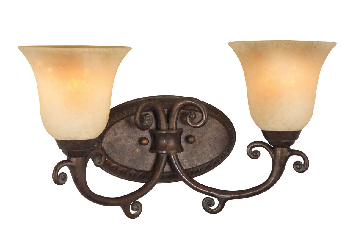 "Craftmade 10409 Aztec 17"" Wide 2 Light Bathroom Vanity Light Peruvian"