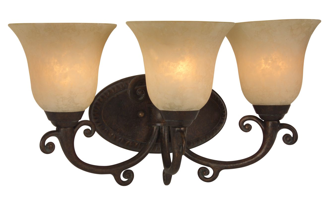 "Craftmade 10418 Aztec 19"" Wide 3 Light Bathroom Vanity Light Peruvian"