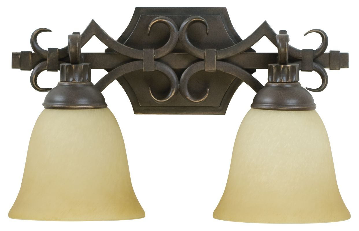 Craftmade 10915 Florence 2 Light Bathroom Vanity Light - 15.5 Inches