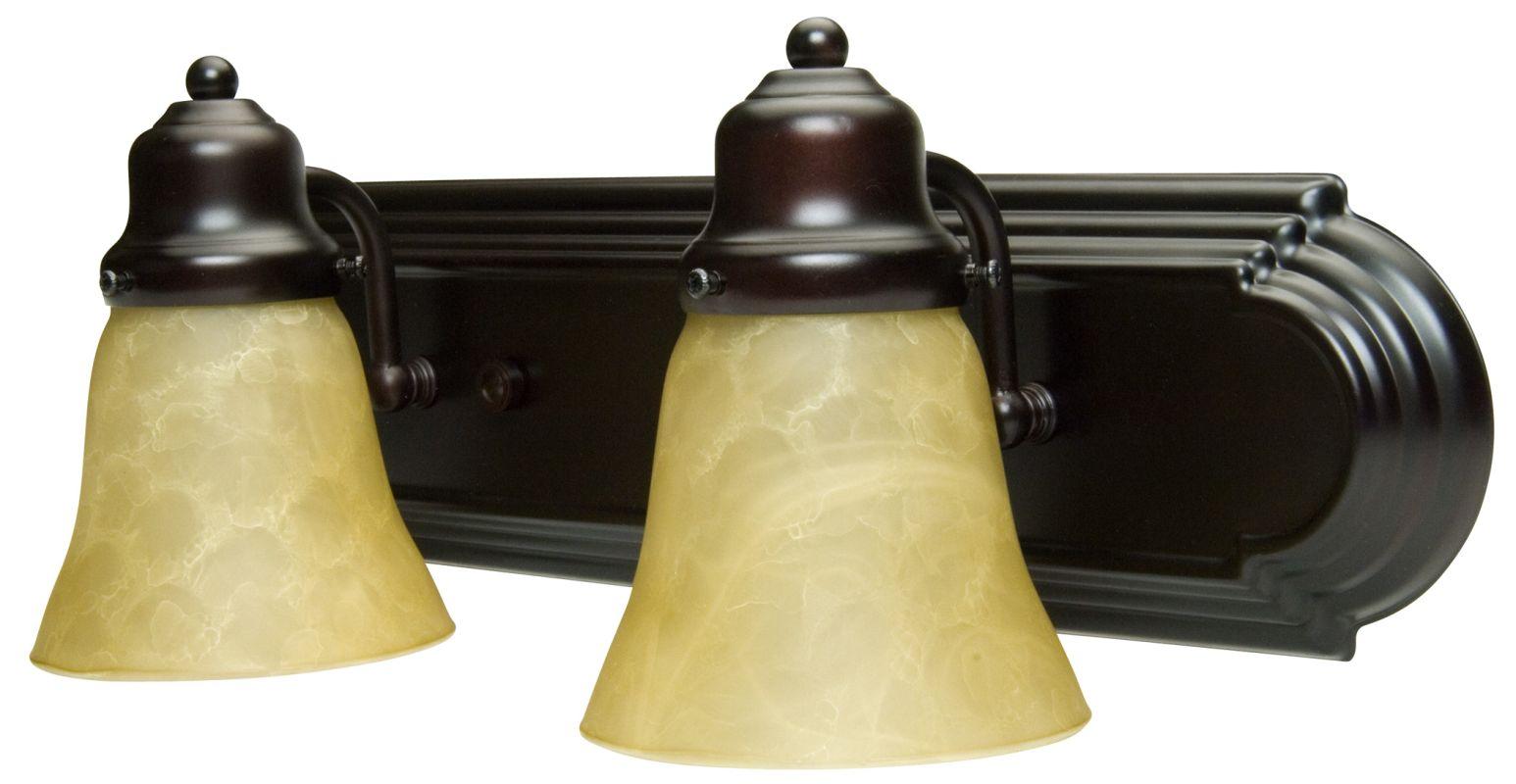 "Craftmade 11718-KIT Racetrack 18"" Wide 2 Light Bathroom Vanity Light"