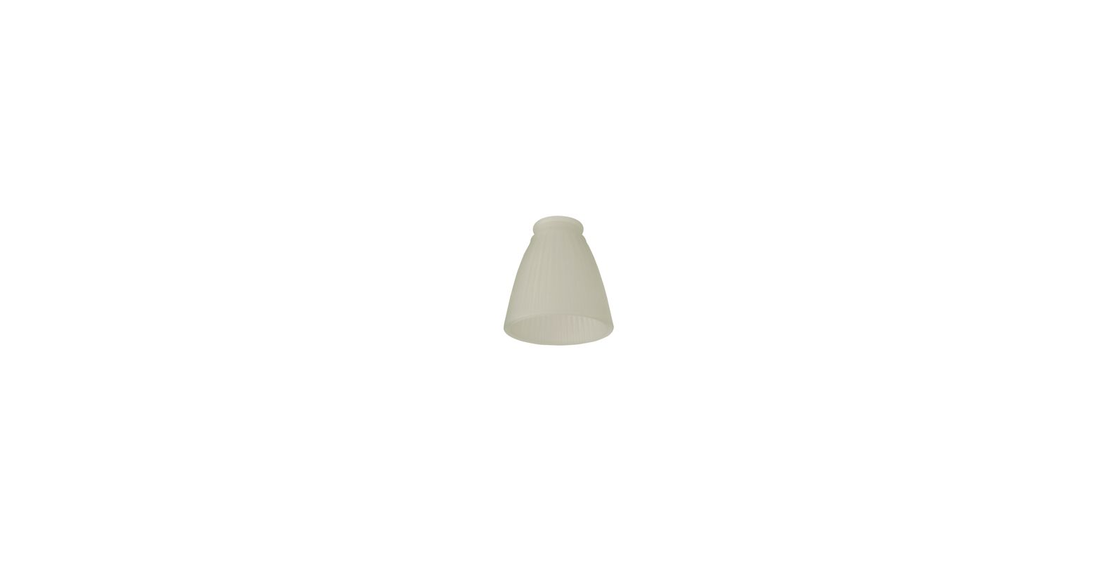 Craftmade 232 2.25 Inch Frosted Ribbed Glass Shade Frost Ribbed Bell