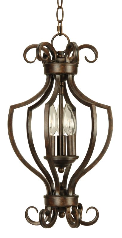 Craftmade 71103 Builders 3 Light Caged Pendant - 10.5 Inches Wide
