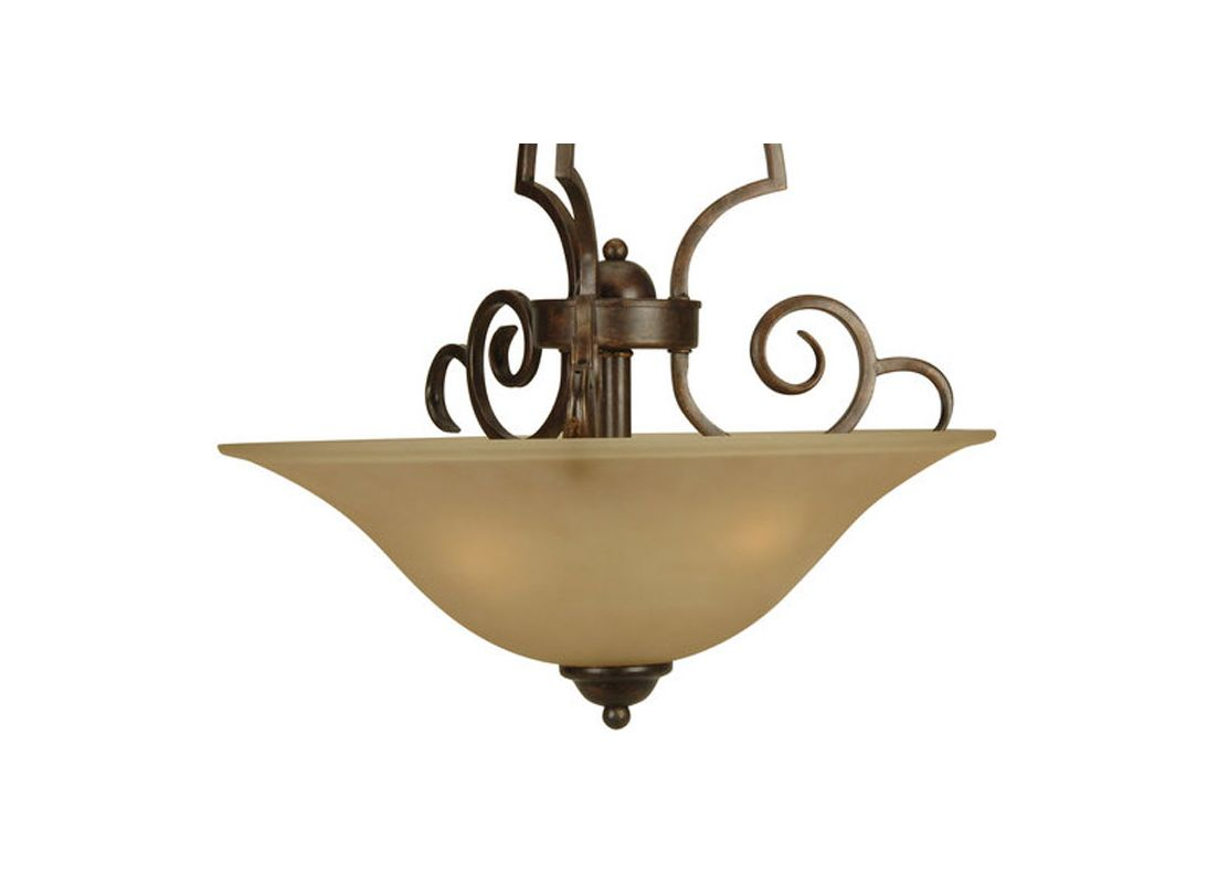 Craftmade 71183 Builders 3 Light Bowl Shaped Pendant - 18 Inches Wide