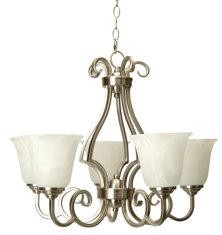 Craftmade 7124 Builders Single Tier 5 Light Mini Chandelier - 24 Sale $199.00 ITEM: bci1023743 ID#:7124BN5 UPC: 647881083540 :