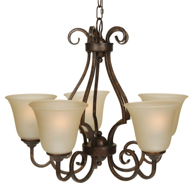 Craftmade 7124 Builders Single Tier 5 Light Mini Chandelier - 24 Sale $199.00 ITEM: bci1023744 ID#:7124PR5 UPC: 647881083557 :