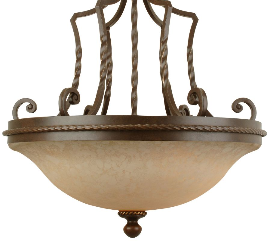 Craftmade 8123 Riata 3 Light Bowl Shaped Pendant - 23 Inches Wide Aged