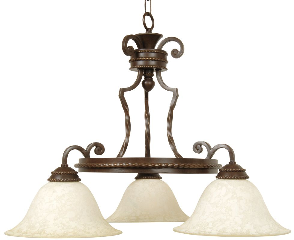 Craftmade 8127 Riata Single Tier 3 Light Mini Chandelier - 28 Inches