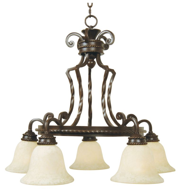 Craftmade 8129 Riata Single Tier 5 Light Mini Chandelier - 28.75