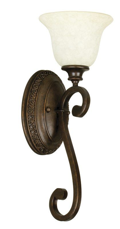 "Craftmade 9108 Scroll 21"" Tall 1 Light Bathroom Wall Sconce Peruvian"