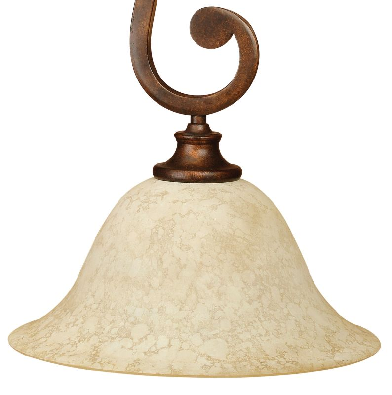 Craftmade 9112 Scroll 1 Light Bell Shaped Pendant - 12 Inches Wide