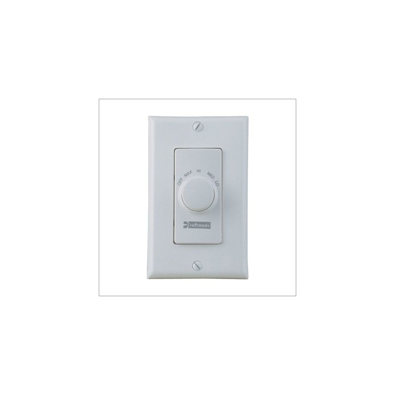 Craftmade CM-RTF Four Speed Fan Wall Control Almond Accessory Wall