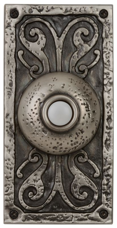 "Craftmade PB3037 Designer Surface Mount 5.25"" Tall LED Door Chime Push"