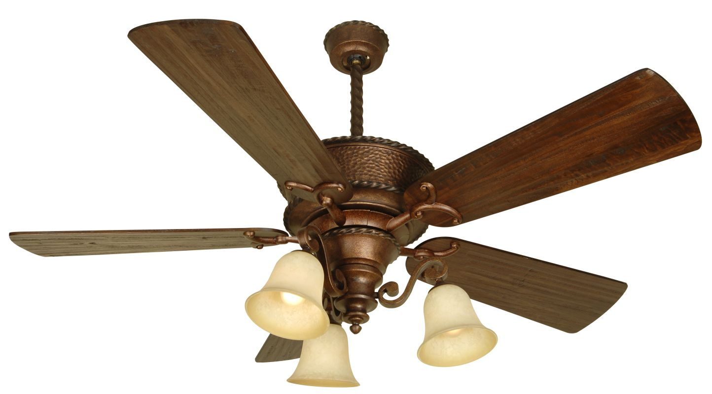 "Craftmade Riata 44"" 5 Blade Indoor Ceiling Fan Burnt Sienna Fans"