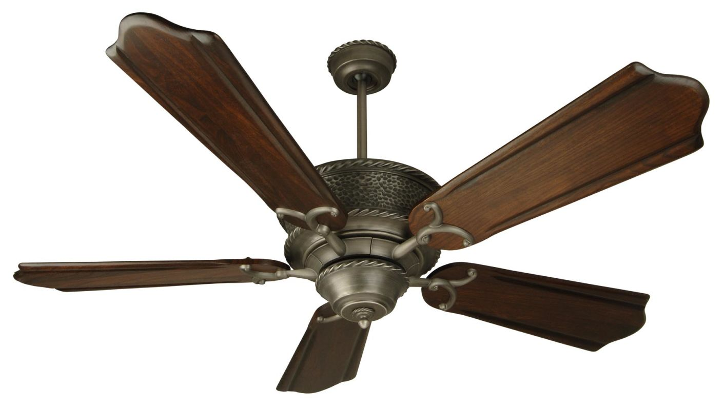 "Craftmade Riata 44"" 5 Blade Indoor Ceiling Fan Pewter Fans Indoor"