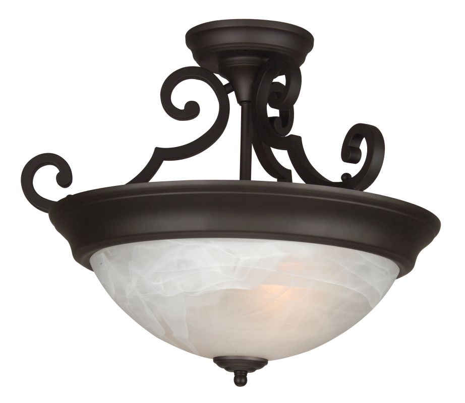 Craftmade X224 2 Light Semi Flush Ceiling Fixture Oiled Bronze Indoor Sale $89.00 ITEM: bci687614 ID#:X224-OB UPC: 647881069346 :