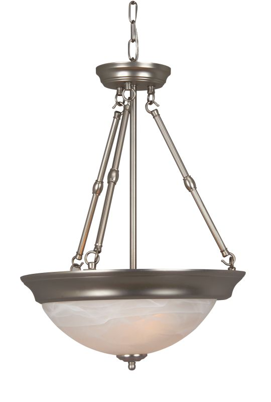 Craftmade X225 3 Light Bowl Shaped Pendant - 15 Inches Wide Brushed Sale $79.00 ITEM: bci687624 ID#:X225-BN UPC: 647881069391 :