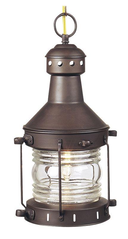 Craftmade Z111 7 Burnished Copper Nautical 1 Light Lantern Outdoor Pendant