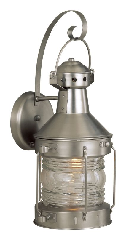 Craftmade Z114-28 Brushed Nickel Nautical 1 Light Outdoor Wall Sconce - 9 Inches Wide ...