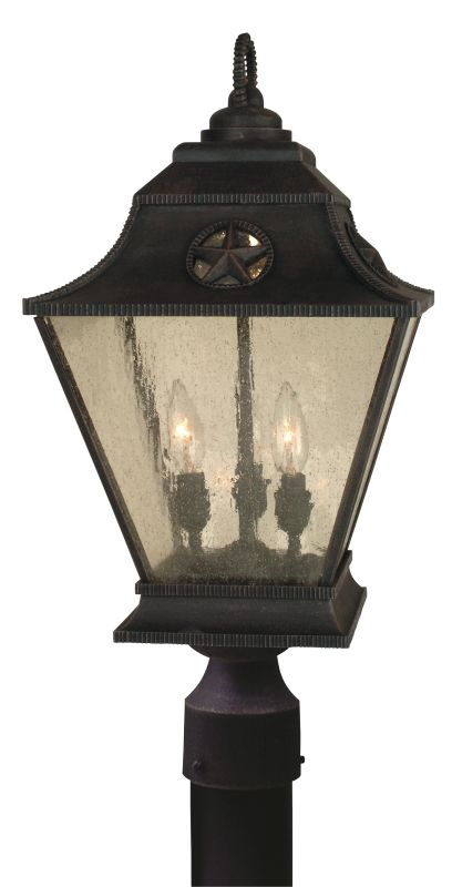 Craftmade Z1415 Chaparral 3 Light Large Post Light Rust Outdoor
