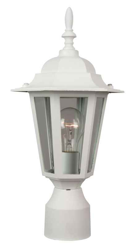 Craftmade Z155 Hex 1 Light Outdoor Post Light Matte White Outdoor