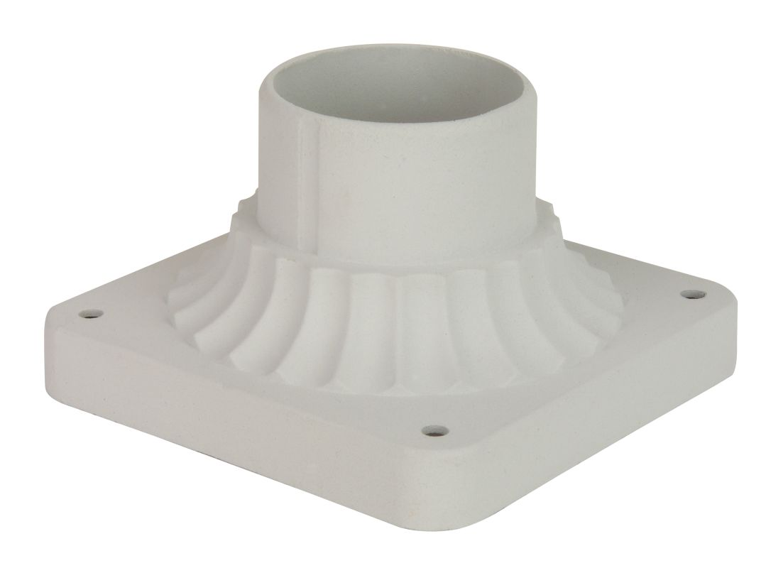 "Craftmade Z200 5.88"" Wide Square Post / Pier Mount Matte White Outdoor"