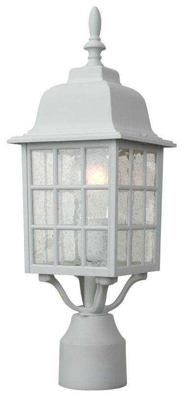Craftmade Z275 Grid Cage 1 Light Outdoor Post Light Matte White
