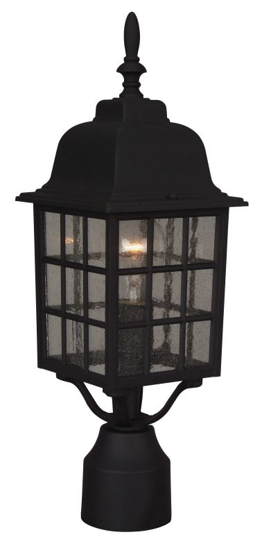 Craftmade Z275 Grid Cage 1 Light Outdoor Post Light Matte Black Sale $49.00 ITEM: bci687735 ID#:Z275-05 UPC: 647881007706 :