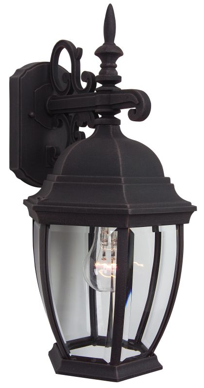 Craftmade Z284 Bent Glass 1 Light Outdoor Wall Sconce - 9.5 Inches