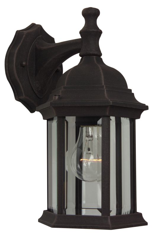 Craftmade Z294 Hex 1 Light Outdoor Wall Sconce - 6 Inches Wide Rust