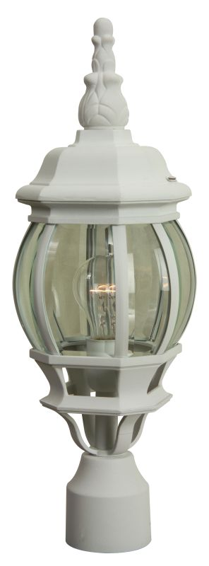 Craftmade Z325 French Style 1 Light Post Light Matte White Outdoor