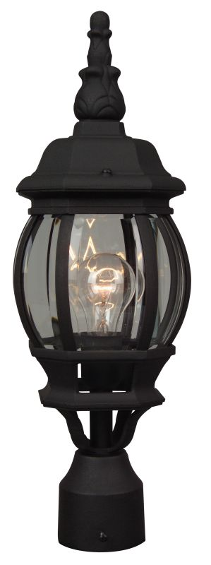 Craftmade Z325 French Style 1 Light Post Light Matte Black Outdoor