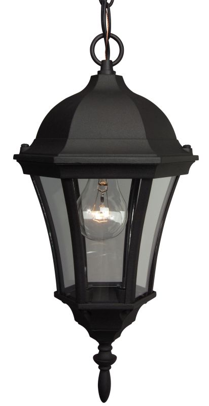 Craftmade Z381 Curved Glass 1 Light Lantern Outdoor Pendant - 8 Inches Sale $49.00 ITEM: bci687811 ID#:Z381-05 UPC: 647881021924 :