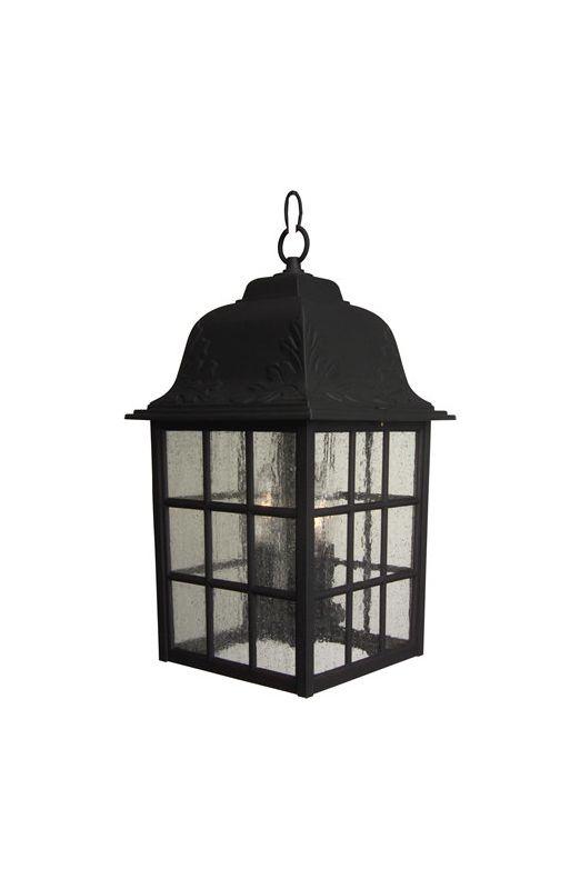 Craftmade Z571 Grid Cage 3 Light Rectangular Outdoor Pendant - 8.5