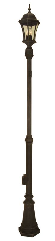 "Craftmade Z8984 80"" Height Outdoor Post with Photocell Rust Outdoor"