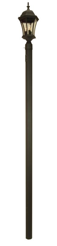"Craftmade Z8990 Single 84"" Outdoor Post Matte Black Outdoor Lighting"