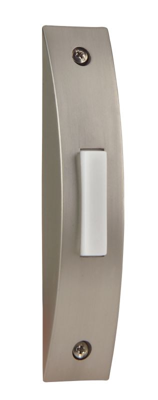 "Craftmade BSCS 4.125"" Tall Contemporary LED Door Chime Push Button"