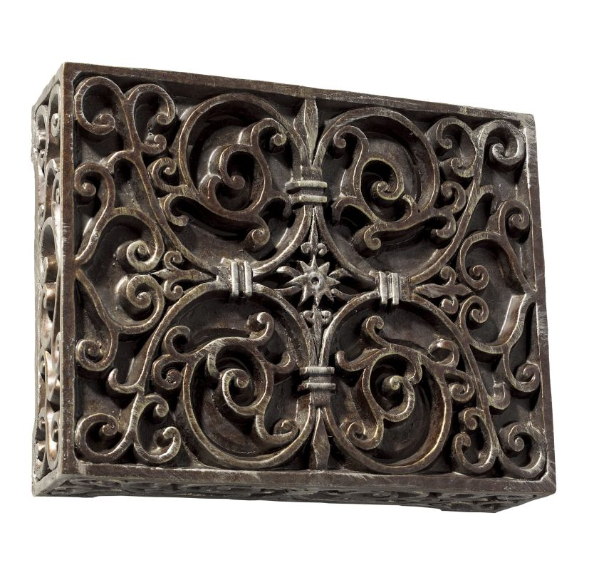 "Craftmade CABW Wireless 8.5"" Wide Hand-Carved Door Chime with Push"