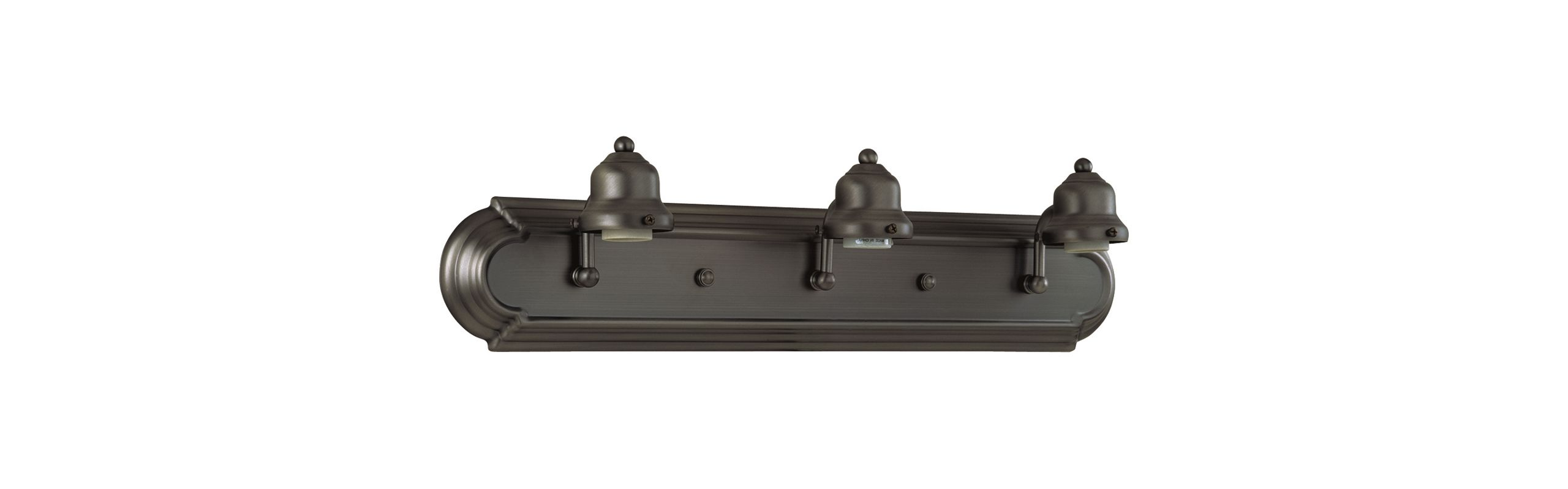 "Craftmade 11724-3 Racetrack 24"" Wide 3 Light Bathroom Vanity Light"