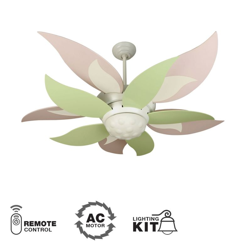 "Craftmade Bloom Youth Fans 52"" 10 Blade Indoor Ceiling Fan - Remote Sale $349.00 ITEM: bci1023683 ID#:BL52W UPC: 647881094010 :"