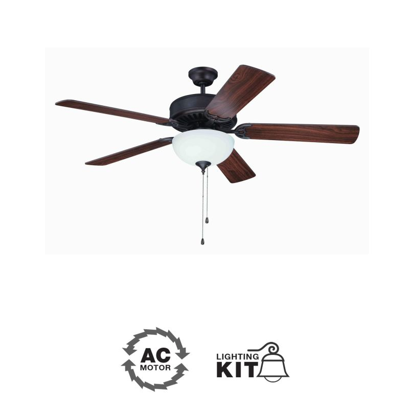 Craftmade C201 Pro Builder 52&quote 5 Blade Indoor Ceiling Fan - Light Kit