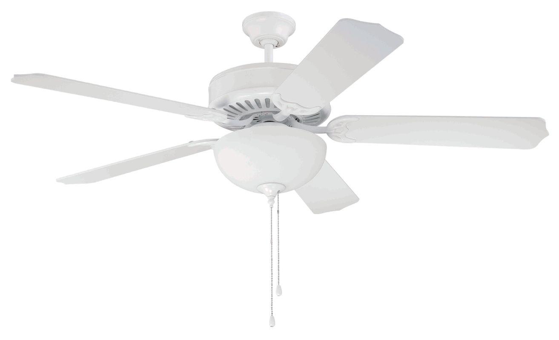 "Craftmade C201 Pro Builder 52"" 5 Blade Indoor Ceiling Fan - Light Kit"