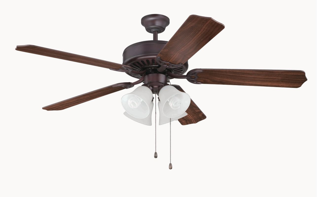 "Craftmade C203 Pro Builder 52"" 5 Blade Indoor Ceiling Fan - Light Kit"