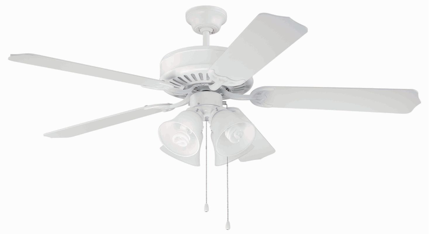 "Craftmade C203 Pro Builder 52"" 5 Blade Indoor Ceiling Fan - Light Kit"