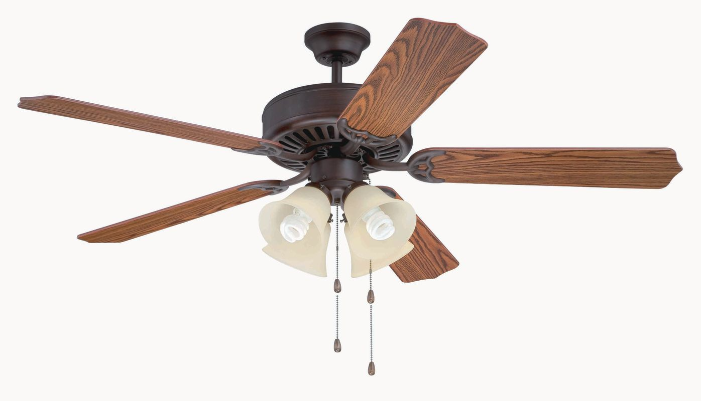 Craftmade C204 Pro Builder 52&quote 5 Blade Indoor Ceiling Fan - and Light