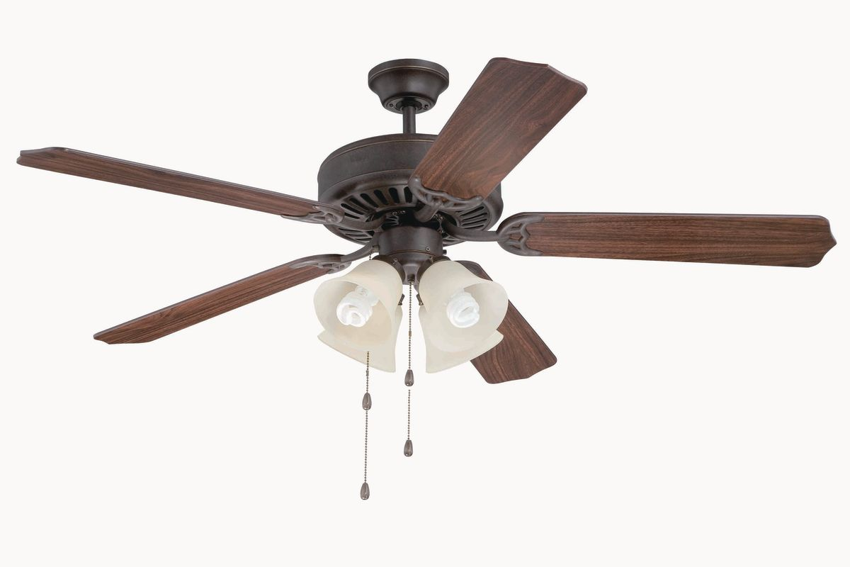 """Craftmade C204 Pro Builder 52"""" 5 Blade Indoor Ceiling Fan - and Light"""